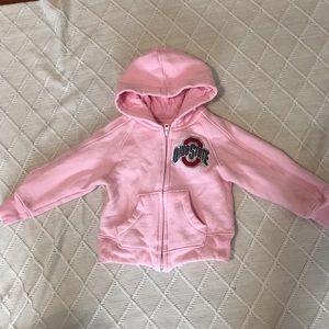 OHIO STATE | Girls pink zipper hoodie 3T